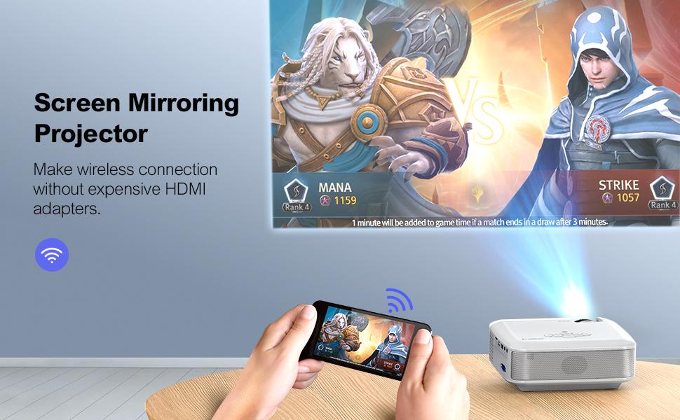Proiettore wifi per telefono smartphone