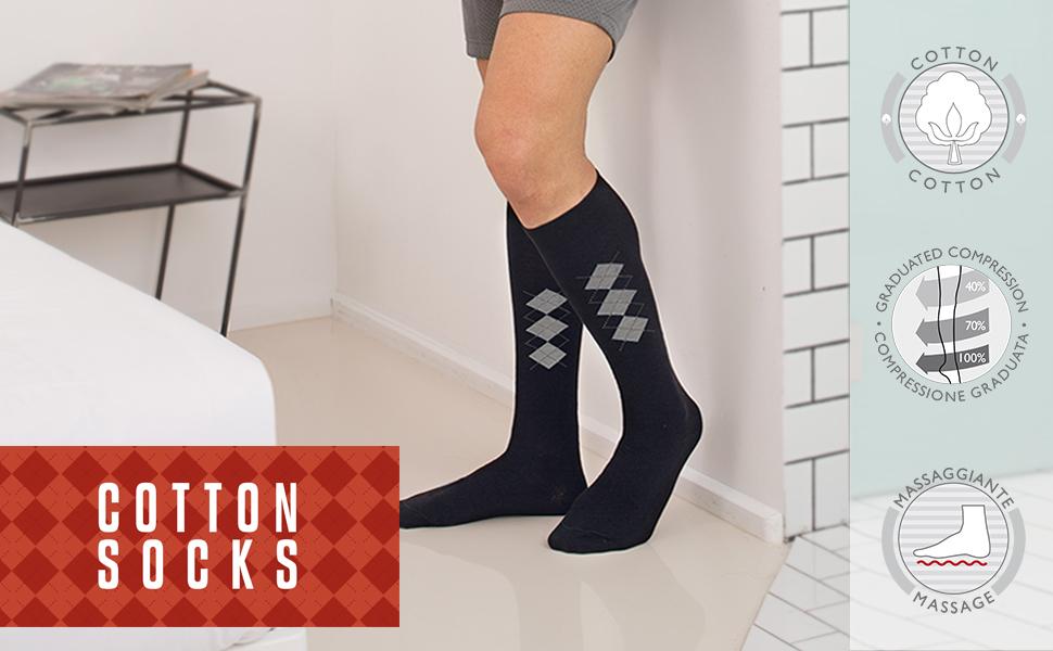 calzini massaggianti, gambaletti, compressivi, compressione graduata, mmhg, calze aereo, viaggio