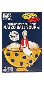 Matzo Ball Soup Kit Matzo Crumbs Matzo Bread Flats Chips Crackers Kosher Passover Vegan Dairy Free