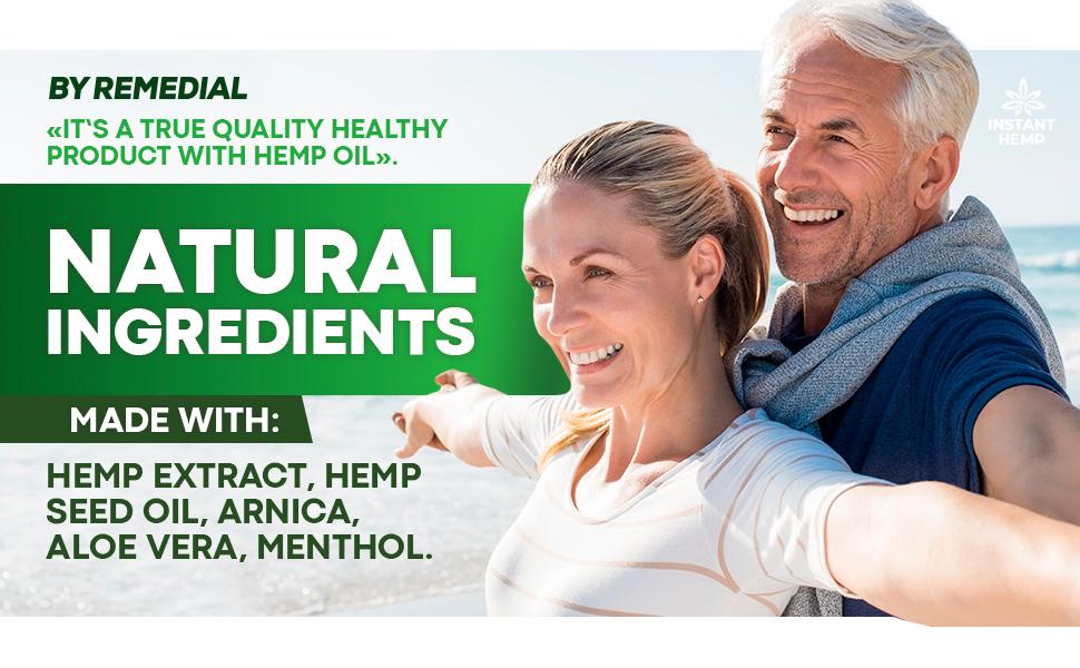 hemp extract seed oil arnica aloe vera menthol hemp cream
