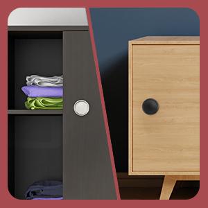 cabinet storage doors door easy pull finger slide