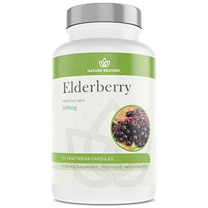 Nature restore elderberry antioxidants anthocyanins cold berries