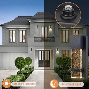 Modern Wall Sconce Dusk to dawn sensor