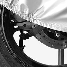 Neverland Talla XXXL Funda Protectora para Moto Scooter con Top Case Ajustable con Correas de Cremallera de Velcro Tela 210D Oxfords Durable Negro Plata