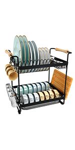 2-tier dish rack