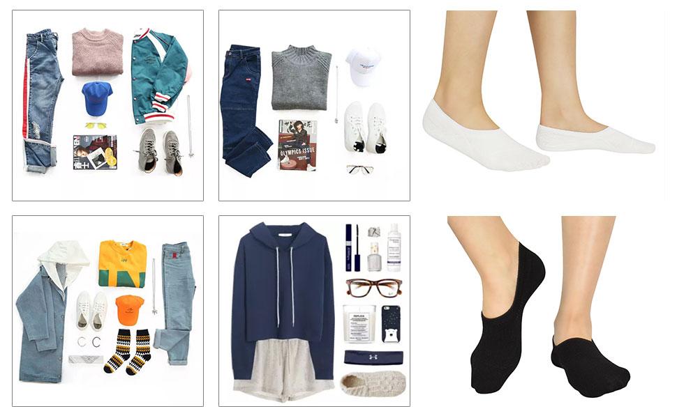 Calcetines Invisibles Mujer De Algodón