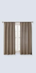 burlap curtains farmhouse swags