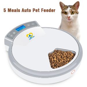 5 meals auto pet feeder
