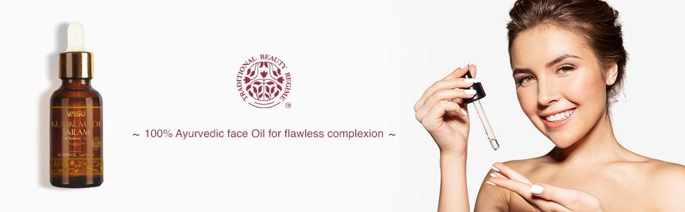 Kumkumadi Tailam, Kumkumadi oil, Skin Lightening Oil, 100% Natural Face Oil