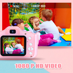 Kids Camera, 20.0MP Digital Dual Camera Rechargeable with 2.0 Inch IPS Screen,32GB SD Card Included