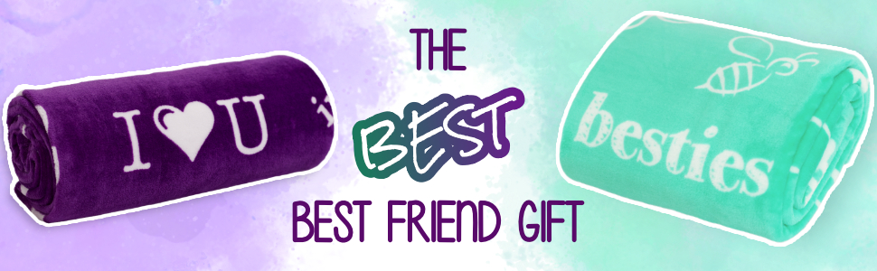 gifts for girls best friend blanket for bestie bff girlfriend soul sisters and nieces. teal purple