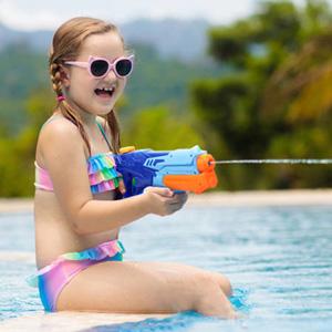 MOZOOSON Pistola de Agua de Juguete para Niñas de Niños, Potente Chorro de Agua con un Alcance Largo 33ft, Water Pistol Gun para Batalla de Agua, Fiestas de Verano al Aire Libre,