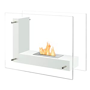 Portable Ventless Fireplace - Vitrum L in White
