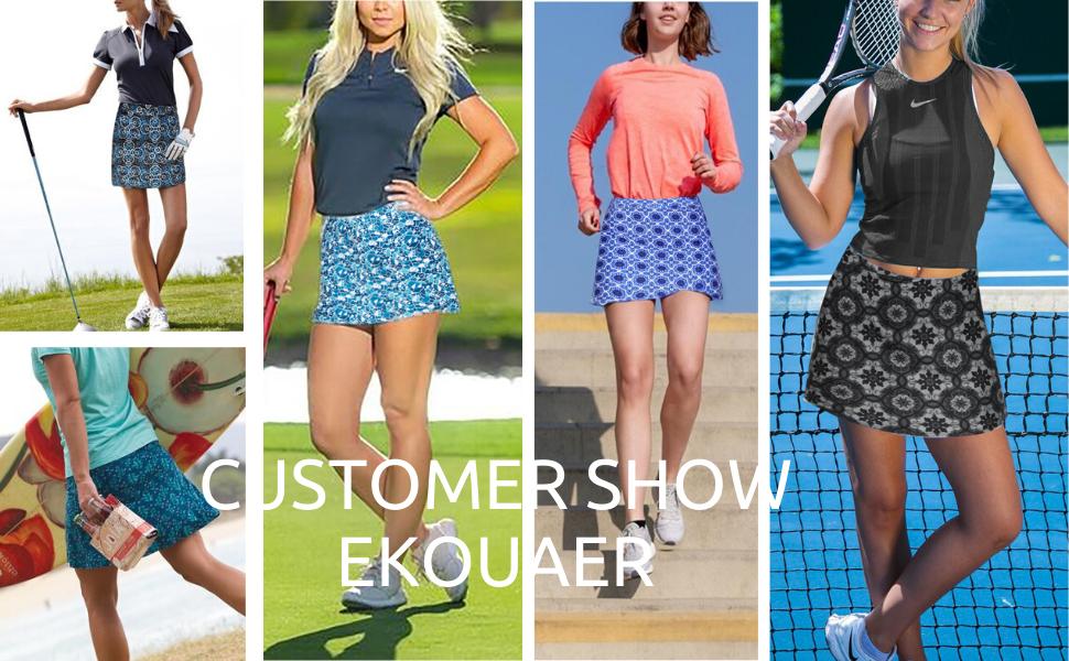 floral sport skirt skort with pocket