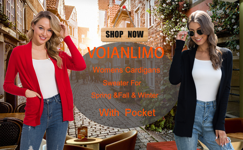 Open Front Casual Christmas Sweaters Cardigan