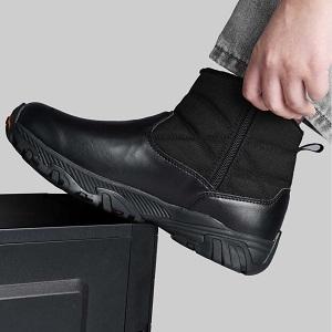 Winter boots side zipper