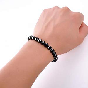 Männer Frauen Magnetic Armband Arthritis Hämatit Perlen Therapie ArmbanRSPF