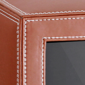 Leather finish security safe