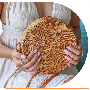 round rattan bag rattan bags for women woven bag circle bag straw crossbody bag woven purse