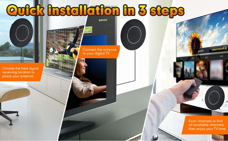 Easy installation, quick installation without tools.