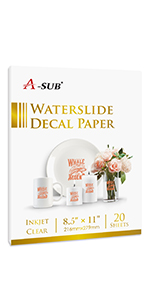 waterslide decal paper for inkjet printer clear