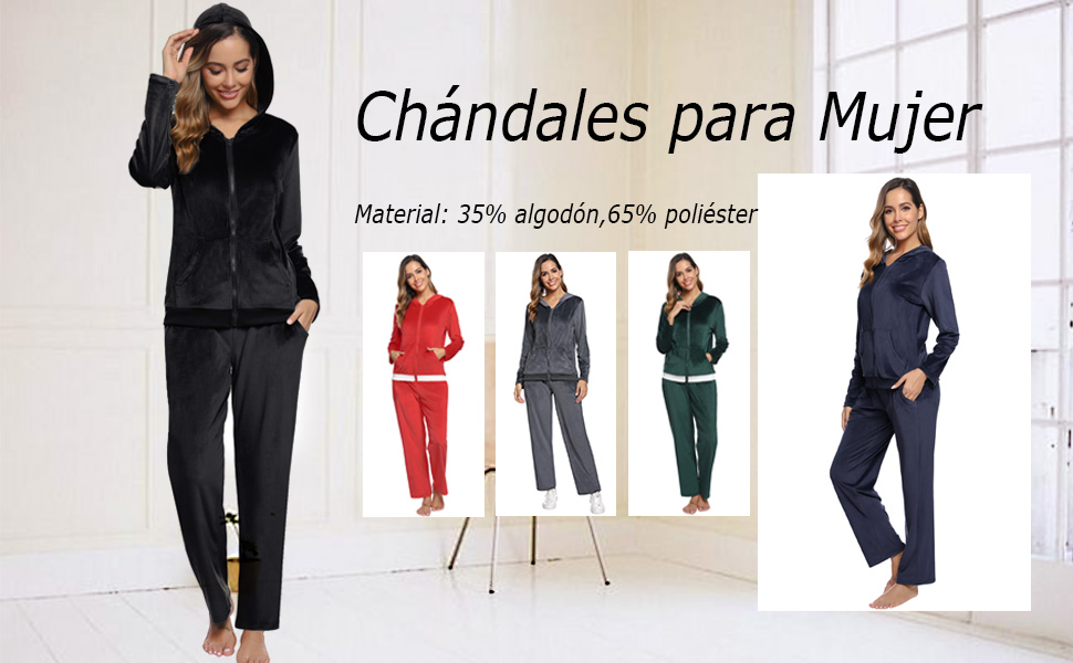 Abollria Conjunto de Chándal para Mujer, Trajes Deportivos de ...