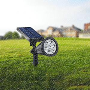 outdoor solar spotlight