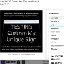 ADVPRO LED neon sign customize steps and options