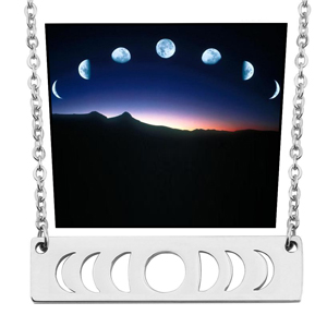 Moon Phase Necklace Silver