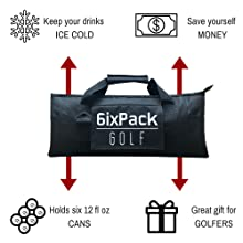 6ixpack golf cooler bag great gift for golfers