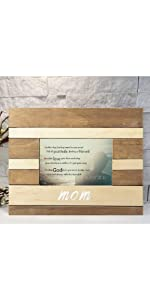 mothers day birthday mother photo frame poem show you care gift rustic wood wooden easel back mom