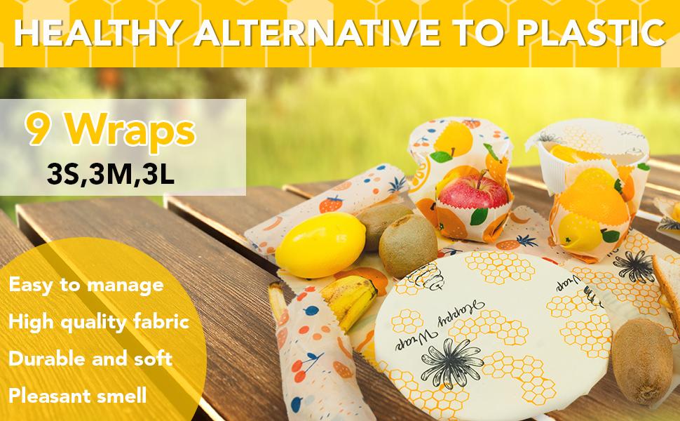 reusable beeswax food wrap, reusable beeswax wrap, reusable food wraps, reusable wax food wrap