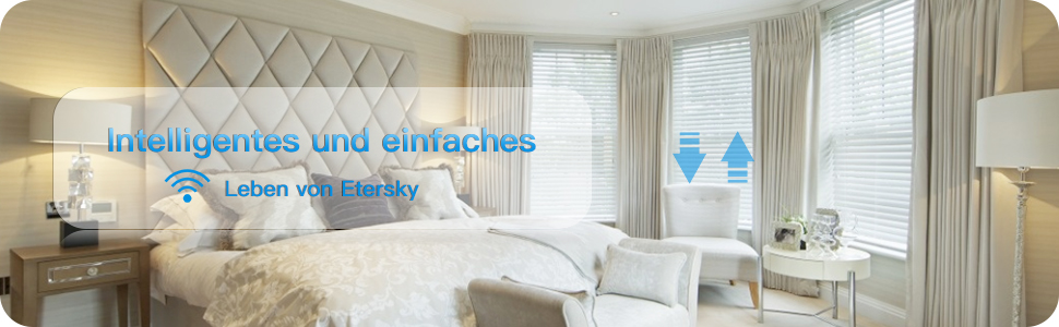Schaltbares Led Smart Rolladen Zeitschaltuhr Etersky Wlan Schalter Fur Rollladen Jalousien Kompatibel Mit Alexa Echo Und Google Home Touch Panel Smart Life App Fernbedienung Und Timer Amazon De Baumarkt