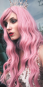 Long Curly Pink