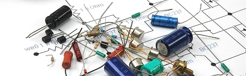 uxcell/® 1//4 Watt 1K Ohm Carbon Film Resistors 5/% Tolerances 0.25W 200pcs 4 Color Band