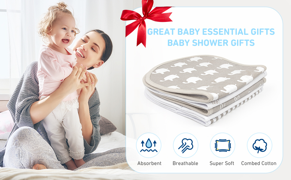 Expecting announcement gift Baby gift Infant burpies Contoured burp cloth Nursery design idea Unisex burp cloth Expecting dad gift