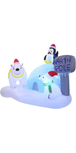 6 FT Long North Pole Inflatable