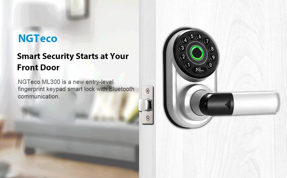Bluetooth enabled fingerprint keypay smart lock