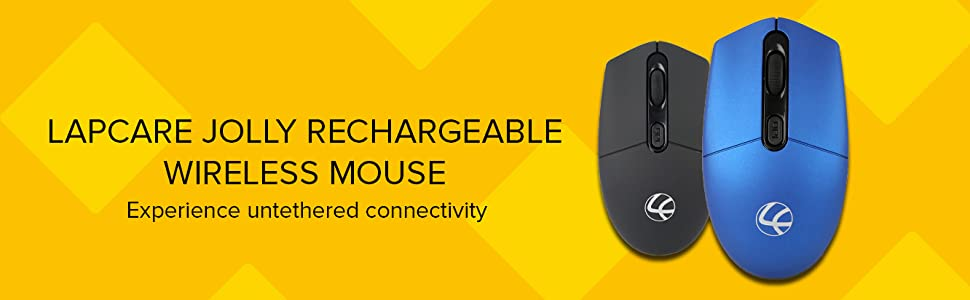 LAPCARE JOLLY RECHARGEABLE WIRELESS MOUSE