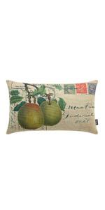 Trendin Farmhouse Pear Lumbar Pillow Cover