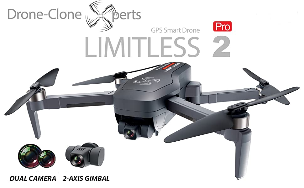 Drone X Pro LIMITLESS 2 GPS 4K Drone