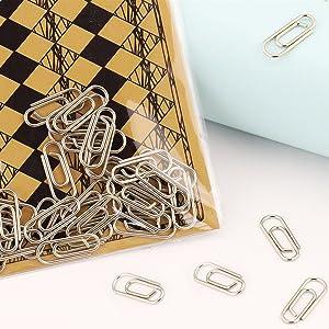 Silver mini paper clips