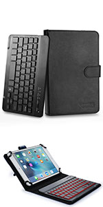 "Cooper Backlight Executive leather keyboard case with backlit keys for 7-8"" tablets"