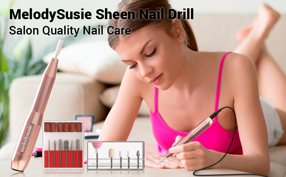Electric Nail Drill Set Portable Efile Machine Acrylics Gel Nails Manicure Pedicure Polishing Tools