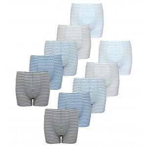 Pack of 10 TupTam Boys Boxer Shorts Underwear Stripes