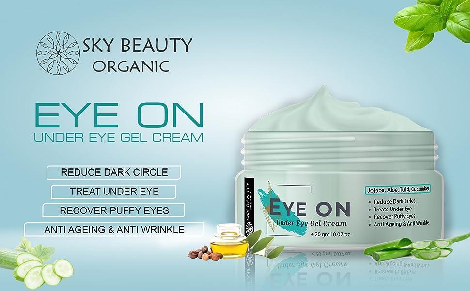 sky beauty organic eye on under gel creme