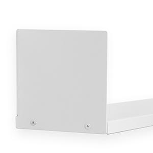 Wallniture libro u shape metal shelf  floating shelf metal white