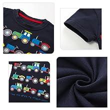 Bebe Ni/ño Verano Ropa Conjuntos Algod/ón Imprimiendo Coche Mangas Corta Camiseta Pantalones Cortos de Ni/ños Conjunto de Trajes