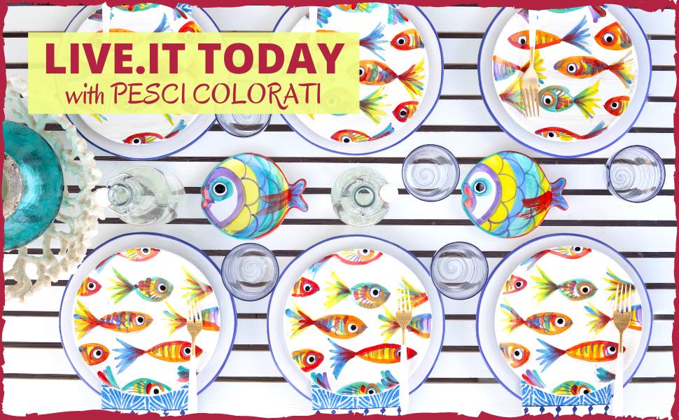 vietri pesci colorati glassware dinnerware kitchen colorful corelle tableware fine dining coastal