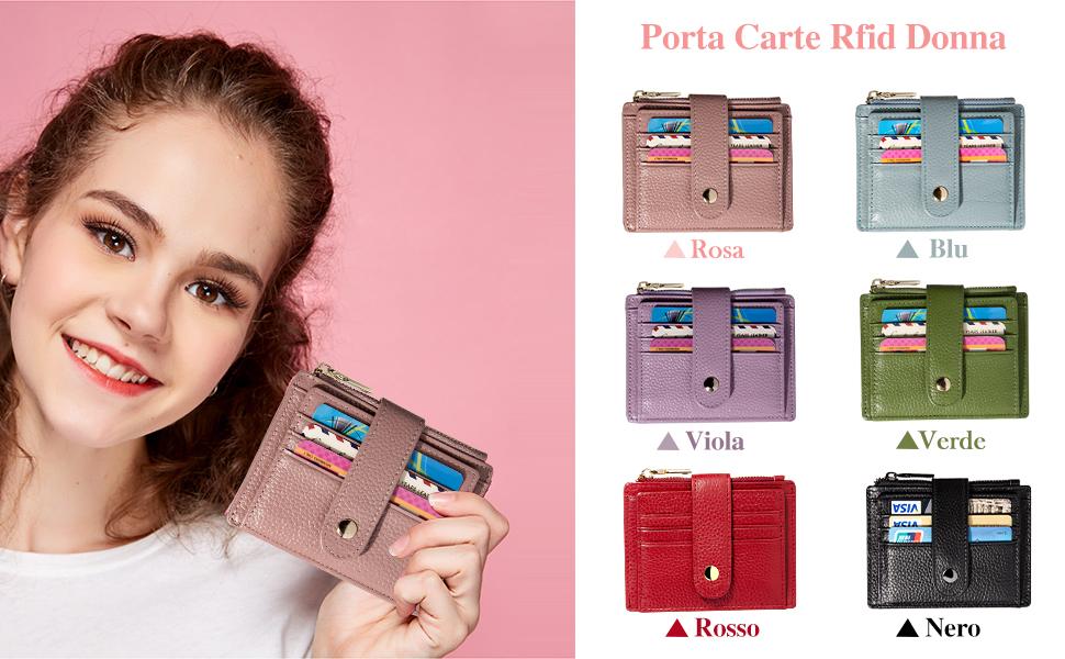 Porta Carte Rfid Donna